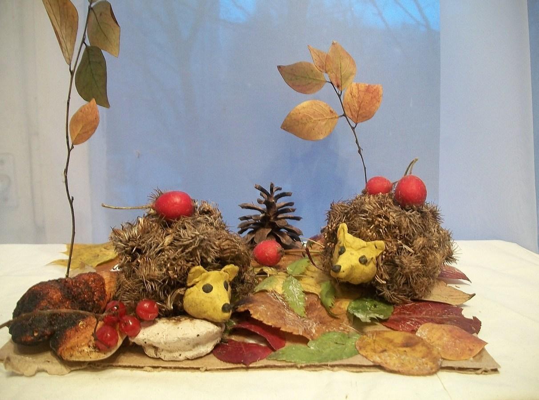 Осенние поделки своими руками из шишек листьев и
